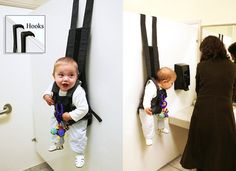 The Babykeeper - Now your baby can watch you pee from a distance.