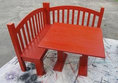 baby beds made into benches | made from the repurposed headboard and footboard of a child's bed ...