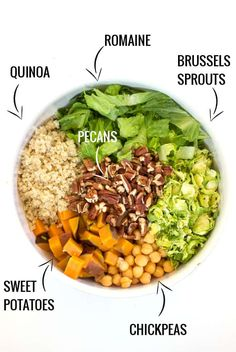 DIY Chopped Quinoa Salad...autumn style! With loads of seasonal veggies, all dressed in a quick apple cider + tahini-sage dressing