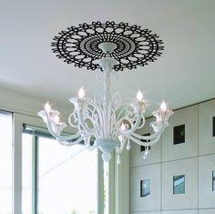 spiro ceiling rose sticker by lauren moriarty & co | notonthehighstreet.com