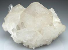 CALCITE on QUARTZ Minerals from Maronne en Oisans, La Garde en Oisans, Isere, France, Europe at Crystal Classics