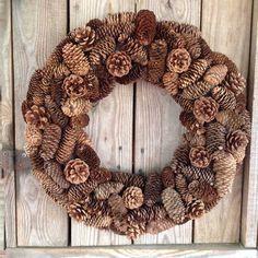 "Natural Pine Cone Wreath 21"" - 2"