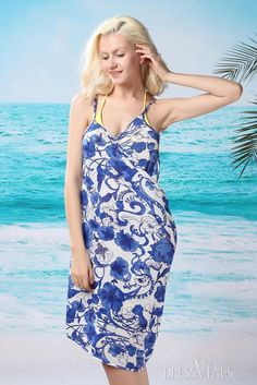 Fragrance, Swimwear , $30.99, Graceful Fragrance Blue And White Porcelain Cover-up