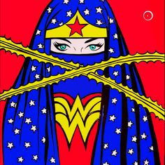 Wonder Woman burka...awesome fancy dress party idea for niqabis!