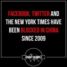 More than 2,701 websites are or were blocked in mainland China including Facebook and Twitter.