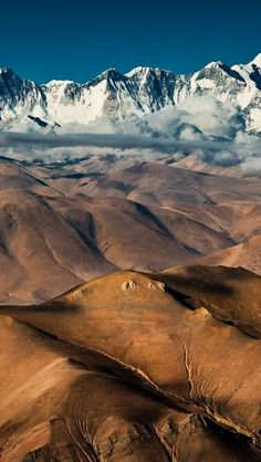 Tibetan-Landscape, I just love the snow capped and the not snowy ones towards the front, so much diversity!