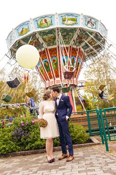 Amusement park wedding portrait shoot Park Weddings, Amusement Park, Wedding Portraits, Reception, Fair Grounds, Photography, Photograph, Photo Shoot, Receptions
