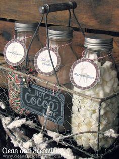 Hot Cocoa Bar...so cute! A fun idea for winter birthdays