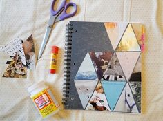 DIY Triangle Collage Notebook