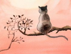 How to Paint Black Cat with Watercolor | The Art 123