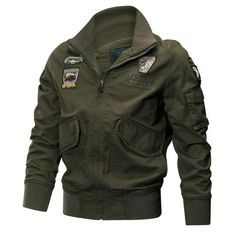 Cheap men military jacket, Buy Quality military jacket directly from China army jacket Suppliers: Men Military Jackets Autumn Winter Tactical Air Force Pilot Coat Quality Cotton Army Jackets Male Casual Outerwear Clothes Military Bomber Jacket, Cargo Jacket, Military Jackets, Bomber Jackets, Men's Jackets, Combat Jacket, Leather Jackets, Rugged Style, Style Brut