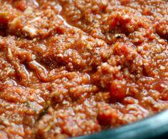 Slow Cooker Vegan Bolognese - Sub zucchini for eggplant & sauté garlic before adding