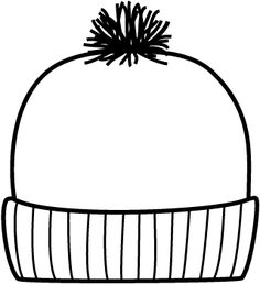 winter hat pattern 2 | Printables | Pinterest | Winter, Preschool ...
