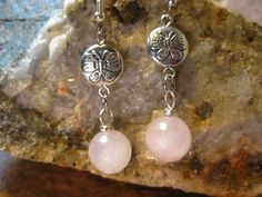 Natural Faceted Rose Quartz & Butterfly by TheHiddenMeadow on Etsy