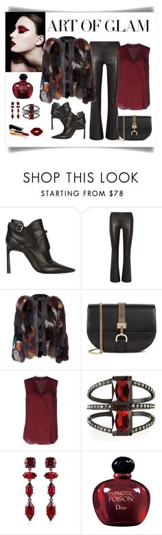 """Philipp Plein Kaleidoscope Fur Jacket Look"" by romaboots-1 ❤ liked on Polyvore featuring Lanvin, The Row, Theory, Oscar de la Renta, Fallon, Christian Dior and Chanel"