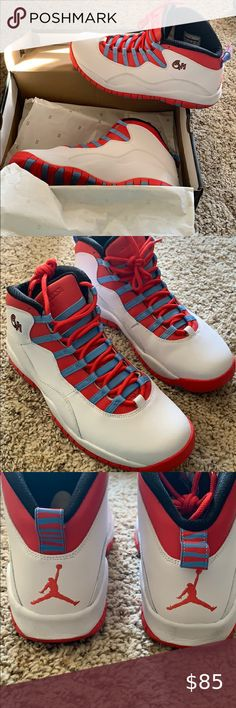 Details about NIKE AIR JORDAN X 10 RETRO DOUBLE NICKEL CHICAGO BULLS WHITE RED 310805 102 11.5