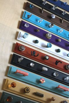 Bright Hook Racks  pick one by bluebirdheaven on Etsy, $48.00