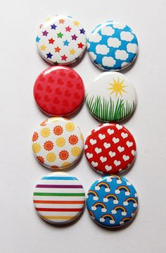 Bright Days Flair by aflairforbuttons on Etsy, $6.00