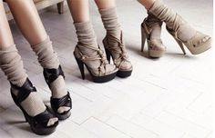 Socks in Heels.