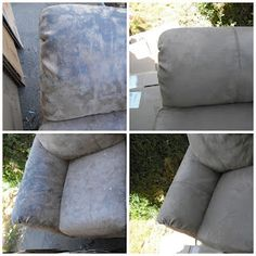 how to clean a microsuede couch! This works so well!!
