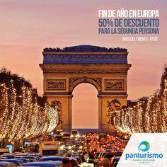 Navidad, Fin de Año y Reyes en Europa. Aprovecha está gran oportunidad porque la segunda persona viaja con el 50% de descuento. Para más información llámanos en Cali al 668 2255 y en Bogotá 606 9779