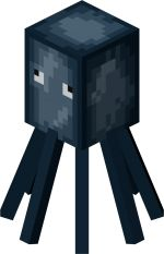 Minecraft squid. did you know squid live in oceans only. squid will ink you when its scared