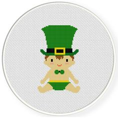 FREE for March 14th 2015 Only - Lucky Baby Cross Stitch Pattern