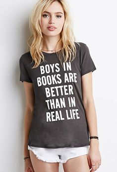 Boys In Books Graphic Tee   Forever 21 - 2000154093