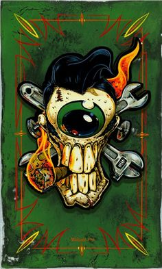 'Greaser Eyeball' by Jeral Tidwell.
