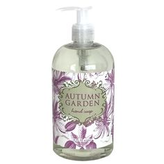 Autumn Garden Liquid Soap by Greenwich Bay Trading Co Cocoa Butter, Shea Butter, Bottle Top, Hand Lotion, Liquid Soap, Autumn Garden, Body Scrub, Body Wash, Pump