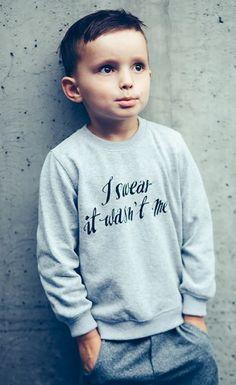 Oops! I SWEAR sweatshirt! I swear it wasn't me ;) #melange #sweatshirt #kids #streetwear