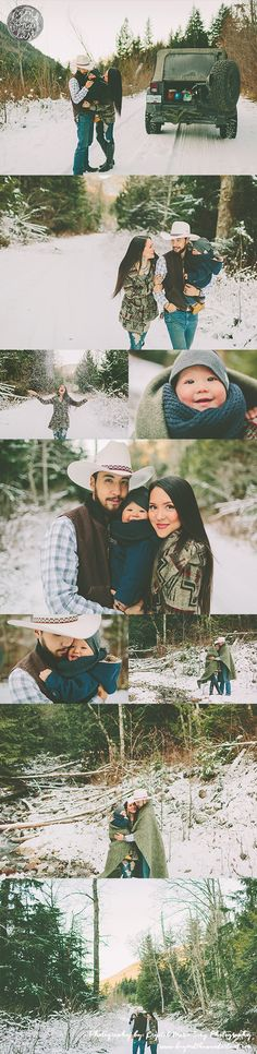 Family of 3 picture ideas, family pictures in the snow, snow pictures, family poses, what to wear for family pictures