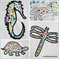 Make easy mosaics with the kids - using marker pens! Super simple! Love it!