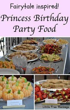 Princess birthday party food ideas - Little Free Monkeys