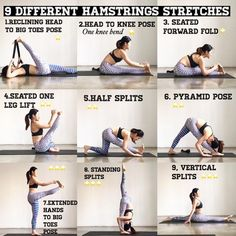 Tight hamstring is a very common problem to have due to our sitting all day culture Tight hamstring muscles require regular stretching Which are the best yoga poses for. Fitness Workouts, Yoga Fitness, Fitness Tips, Fitness Plan, Health Fitness, Hamstring Muscles, Tight Hamstrings Stretches, Best Hamstring Stretches, Calf Stretches
