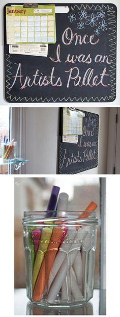 blackboard from an artist pallet!