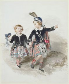 Sir William Ross (1794-1860) - Albert Edward, Prince of Wales, and Prince Alfred