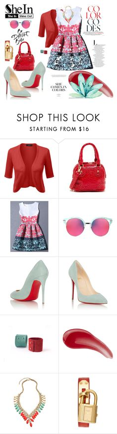 """""""Be different in different colours"""" by agnesmakoni ❤ liked on Polyvore featuring Gentle Monster, Christian Louboutin, TheBalm, Blu Bijoux and Hermès"""