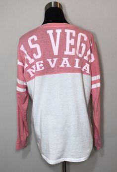 Exist Las Vegas Nevada Shirt Pink White Casino Souvenir Novelty Women Size XL  | eBay