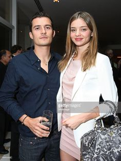 Orlando Bloom and Miranda Kerr at Audi's celebration of the arrival... News Photo | Getty Images