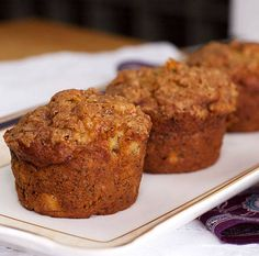 Best Banana Muffins. So good and easy. I added mini chocolate chips and didn't do the topping.