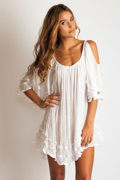 Summer mini fashion Nena tunic in white.. click on pic to see more