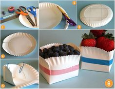 "Different Solutions via ""Faten's Cakes"" on FB  Cool idea for quick containers using paper plates!"