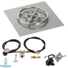 Square Flat Pan with Spark Ignition Kit and Propane Connection Kit