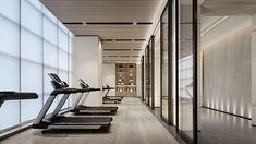 【新提醒】意巢设计丨云山素居:清晖灵逸,抒意东方美学的会所设计-拓者设计吧 Yoga Room Design, Gym Center, Gym Lighting, Hotel Gym, Gym Interior, Interior Design, Gym Lockers, Activity Room, Home Gym Design