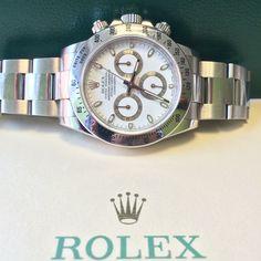 #Preowned 2010 white dial Rolex Daytona http://www.globalwatchshop.co.uk/rolex-daytona-stainless-steel-116520-white-dial.html?utm_content=bufferc37d0&utm_medium=social&utm_source=pinterest.com&utm_campaign=buffer Rarely available - DM for details