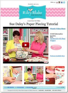 Riley Blake Designs -- Cutting Corners: English Paper Piecing Video Tutorial