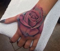 Realistic rose tattoo ❤️