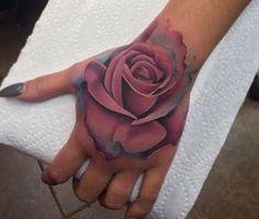 Realistic rose tattoo ❤️
