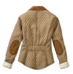Barbour quilted blazer in sandstone. Love the elbow patches. #barbour #england #quilted #camel #sandstone #huntingchic